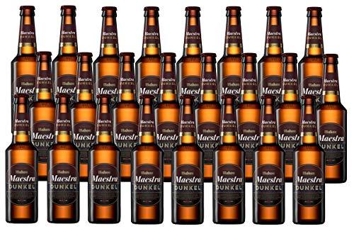Mahou Maestra Dunkel Cerveza Lager Oscura, 6.1% de Volumen de Alcohol - Pack de 24 x 33 cl