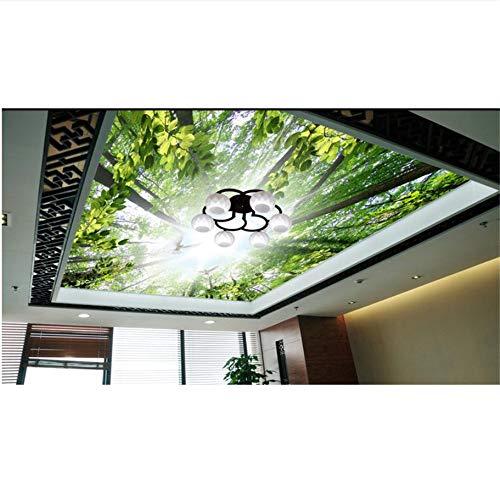 Qqasd 3D stereoskopische High-End-Deckenbilder benutzerdefinierte Tapete Pigeon Wald 3D Decke Tapete Wohnzimmer 3D moderne Himmel Decke-190X130CM