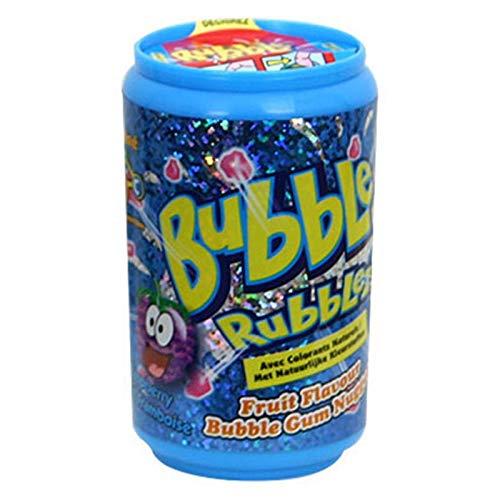 DOK Bubble Rubblez Kaugummigranulat - fruchtig, bunt - drei Geschmacksrichtungen - praktische Spenderdose, 60 g
