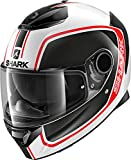 Shark Casque moto SPARTAN 1.2 PRIONA WKR, Noir/Blanc/Rouge, XL