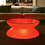 iver LED Luminous Bar Table Waterproof Plastic Furniture Outdoor Furniture Living Room Garden Furniture Wireless Remote Control Charging