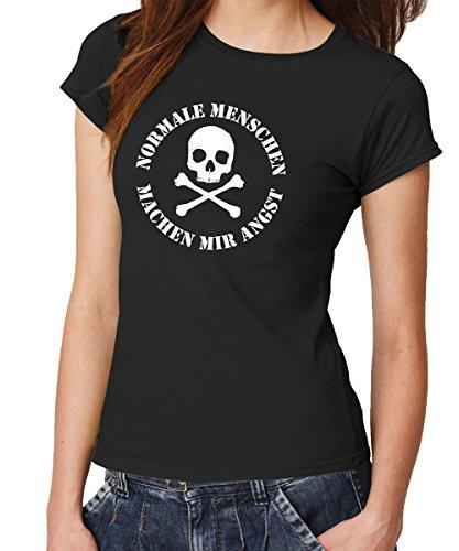 clothinx Damen T-Shirt Fit Normale Menschen Schwarz Gr. M