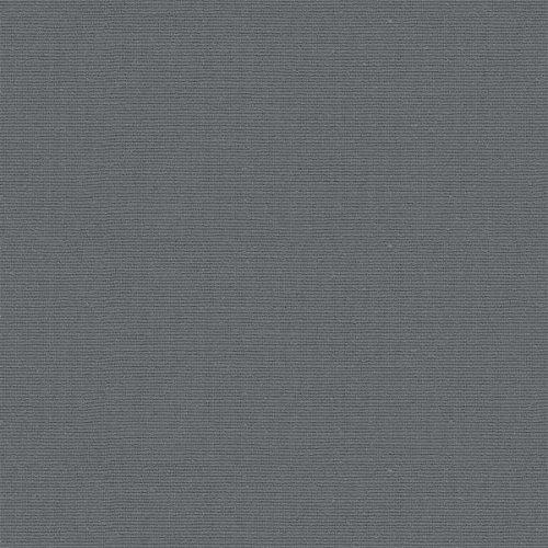 Tessuto arredo tinta unita - Canvas - Scampolo: 100 cm lunghezza x 280 cm larghezza | Grigio ardesia ─ 1 metro