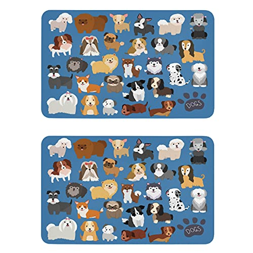 Naanle Breeds Dog Refrigerator Magnets Fridge Magnets Set of 2 Locker Magnets Dishwasher Magnet Sign Magnetic Plate for Home Kitchen Office Cabinets Washing Machine Decorative Magnets Gift