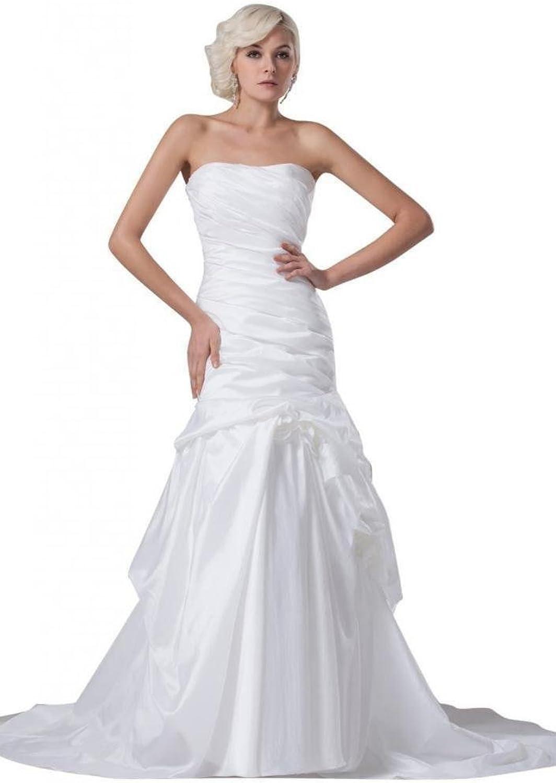 Dearta Women's Mermaid Trumpet Strapless Court Train Wedding Dresses