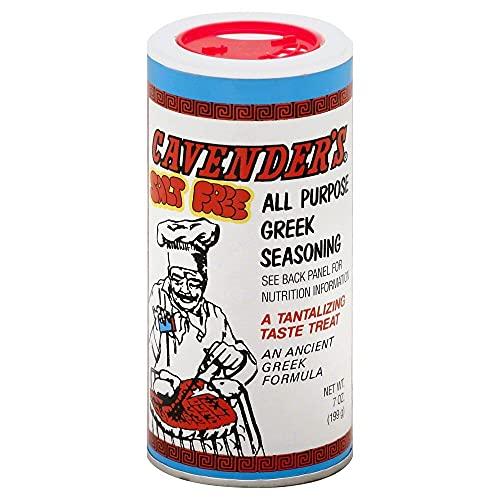Cavenders All Purpose Greek Seasoning, Salt Free(No MSG), 7oz
