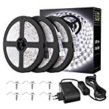 Onforu 15M Striscia LED Impermeabile, Striscia LED Bianca Fredda 5000K, 12V 2835 Led Strip...