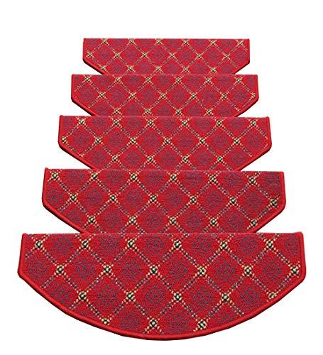 ZENGAI Fibbia Magica Fondo Tappeto Scale Tappetino Pad 5 Pezzi Spesso Passo Coperta 5 Dimensioni (Color : 1#-5 Pieces, Size : 90x(24+3) cm)