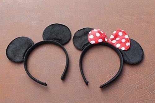 I x Minnie Mouse y 1 x Mickey Mouse Espuma Suave Orejas on Diadema