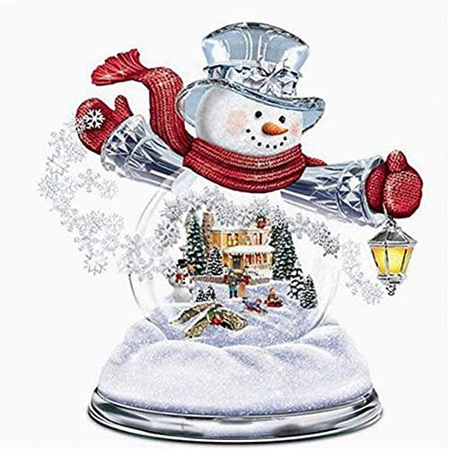 5D Diamond Painting Adulto/niño Muñeco de nieve,DIY Kit de Pintura de Diamante Completo Bordado punto de cruz Cristal Rhinestone Artesanía decor de la pared del hogar 50x50cm(20x20in)