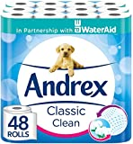 Andrex Classic Clean Toilet Tissue, 48 Toilet Rolls