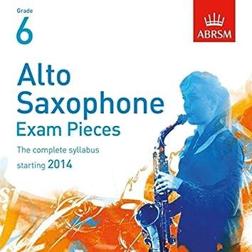 Alto Saxophone Exam Pieces, Starting 2014, ABRSM Grade 6