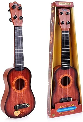 QUALITYZONE Classical Series Guitar Musical Instrument for Beginners Kids Small 4 String Guitar Toy for Kids Small Toy for Kids