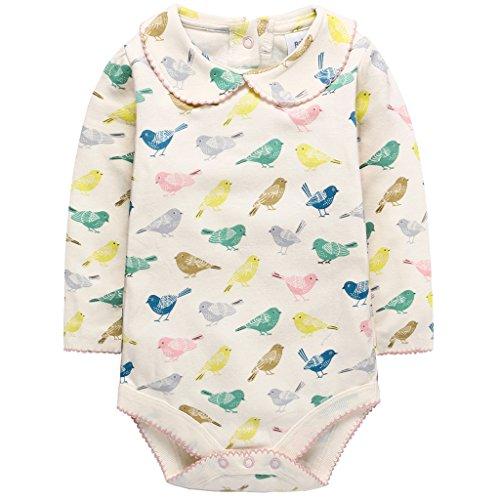 Bebé Niñas Body de Manga Larga, Pijama de algodón Mono Caricatura Pelele 0-3 Meses