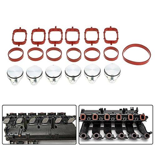KKmoon Ersatz-Diesel-Wirbelklappen mit Ansaugkrümmer-Dichtungen, 33mm, für BMW 320d, 330d, 520d, 525d, 530d, 730d, 4 Stück