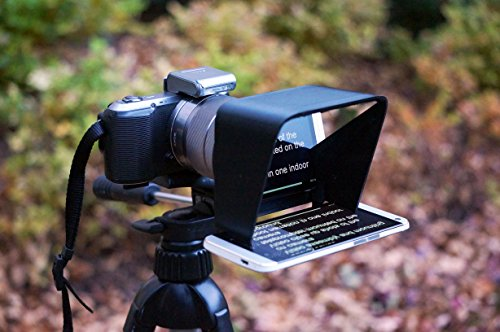 Parrot Teleprompter - Ultra Portable Professional Teleprompter for Camcorders and DSLR Cameras (With Beam Splitter Glass)