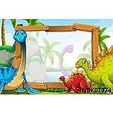 Dinosaur Jungle ForestAnimal Safari Party Recién Nacido Baby Shower Niño Cumpleaños Telón de Fondo Fotografía Fondo para Estudio fotográfico A18 7x5ft / 2.1x1.5m