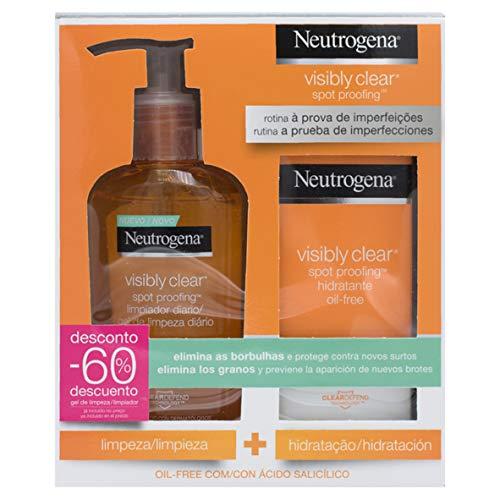 Neutrogena Visible Clear Paquete Hidratante con Limpiador Diario y Crema Hidratante