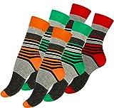 Vincent Creation 6 Paar Damen Socken Candy Strips, Baumwoll Damensocken Streifen
