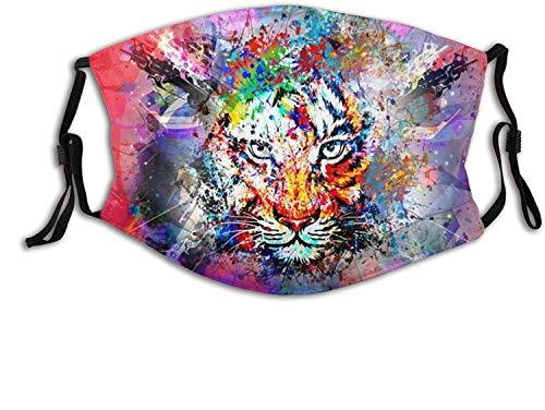 """""""N/A"""" Máscara de patrón de color de tigre Bufanda ajustable reutilizable Pasamontañas antipolvo a prueba de viento para hombres y mujeres"""