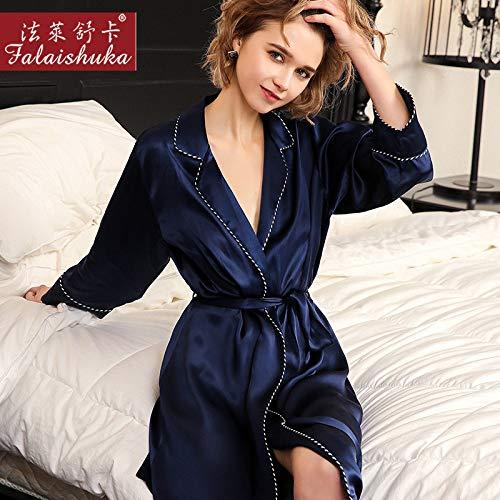 Handaxian Paar Pyjamas weiblichen Sommerkleid Robe männlichen Seide Dünnschliff Nachthemd Home Service Bademantel