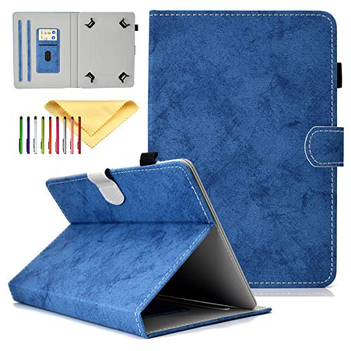 Cookk Universal 9.5-10.5 Inch Tablet Case with Card Slot Kickstand Protective Cases and Covers for iPad 9.7, Nexus 9, Galaxy Tab 9.7/9.6/10.1, Blue