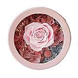 MAVL Caja de Regalo de Rosa eterna, Regalo de Rosa Fresca Hecha a Mano for Ella en cumpleaños, Navidad, Día de la Madre, Día de San Valentín (Color : Rosado)