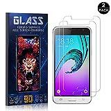 NBKASE Protector Pantalla para Galaxy A6 2018 Alta Definicion Cristal Templado para Samsung Galaxy A6 2018 2 Piezas 9H Dureza Anti-Huella Anti-Rasgu/ño Screen Protector