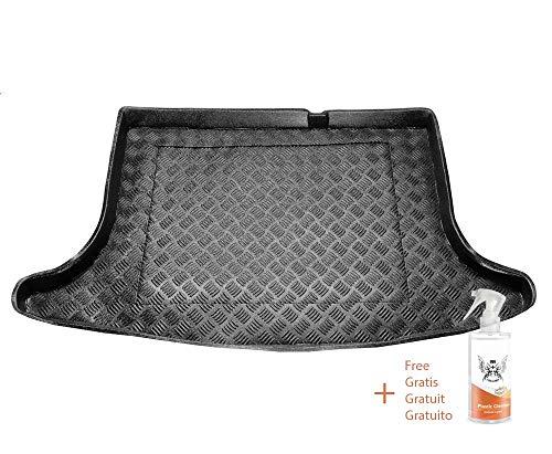 Rezaw Kofferraummatte aus PVC Passend für Nissan Pulsar (ab 2014) + Kunststoffreiniger (Geschenk)