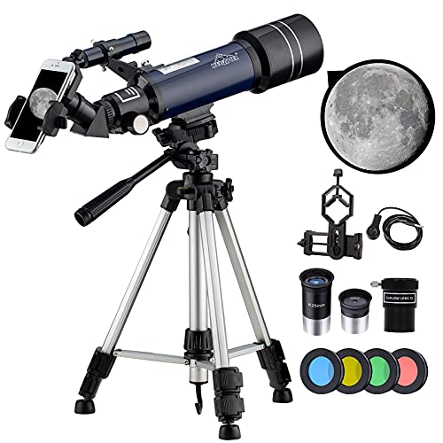 [ℕuevo]198X Telescopio Astronomico 40070 Profesional Telescopios Potentes para Niños, Adultos Principiantes Kit Completo con Aanual en Español