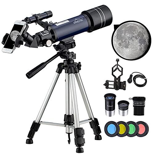 198X Telescopio Astronomico Pro Potenti Telescopi per Bambini Adulti Principianti con Filtro Lunare,...