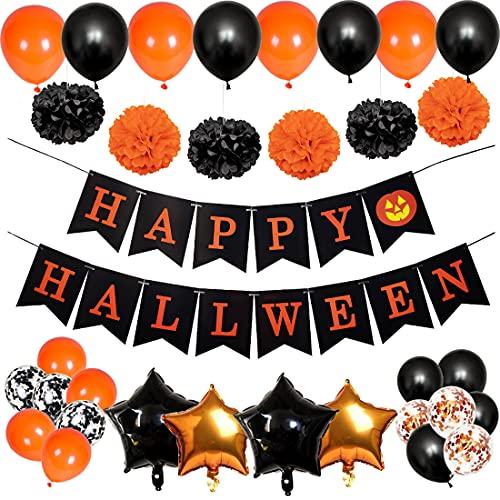 Decoración para Halloween, Globos de Helio, Globo de látex, Globo de confeti, Globos de aluminio, pancarta, decoracion fiesta halloween, globos para casa, mesa o jardín