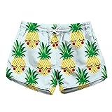 Honeystore - Shorts - Suave - Floral - para mujer Blanco Pineapple Style B Medium