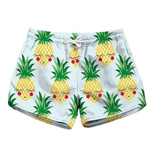 Honeystore Women's Casual Swim Trunks Quick Dry Print Boardshort Beach Shorts Lbp-6003 L