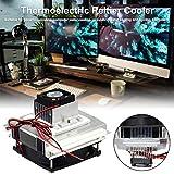gaeruite 12V Refroidisseur thermoélectrique de Peltier, système portatif de climatisation de réfrigération de climatiseur...
