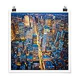 Bilderwelten Poster impresión de galería Midtown Manhattan Cuadrado, Brillante...