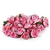 MagiDeal 50 STK. 3cm künstliche Seide Rosen Köpfe Hochzeit Blumendekoration