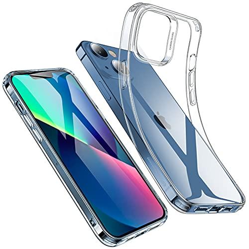 ESR Funda Transparente Compatible iPhone 13, Funda Silicona Slim Transparente, Funda TPU para Teléfono, Transparente, Fina y Resistente al Amarilleo, Serie Project Zero, Transparente