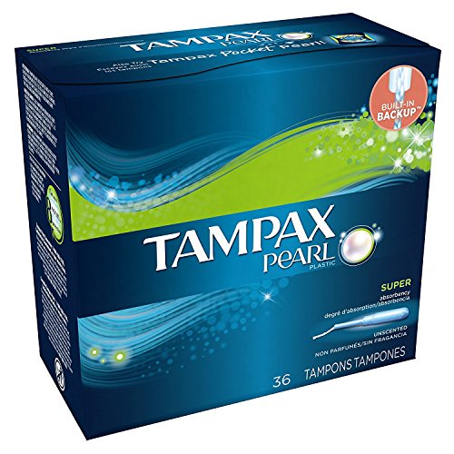 Tampax Pearl Tampons Super Plus Unscented 36 Each (Pack of 6)