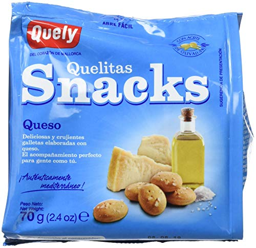 Quely Quelitas Snacks Queso 70 g Pack de 10