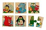 Hess 14920–Puzzle con 6imágenes de Madera Animales, 16x 23x 20cm