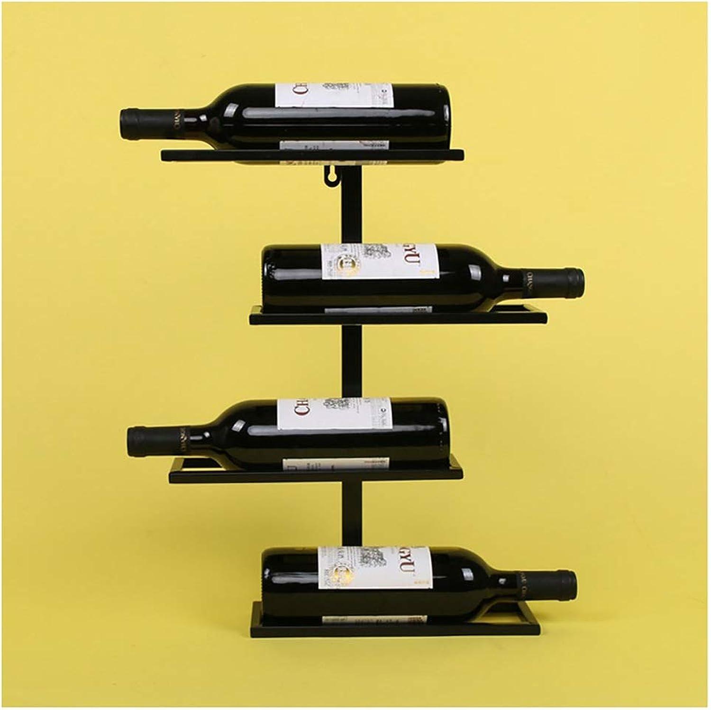 Centro comercial profesional integrado en línea. SHJICH Iron Wine Rack Home Home Home Montado en la Parojo Wine Rack Wine Rack Bar Wine Cabinet Decoración (Color   Negro, Tamaño   45cm)  Ahorre 35% - 70% de descuento