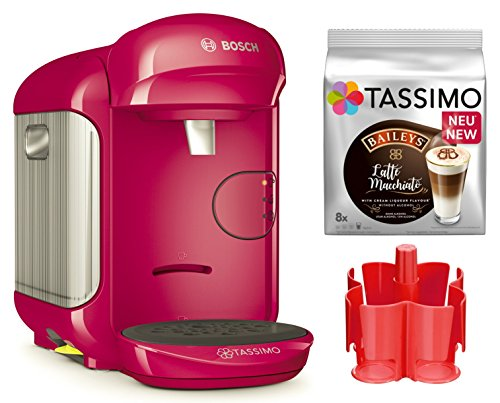 Bosch TASSIMO Vivy 2 Bundle + dispenser + TDiscs hete drank machine roze