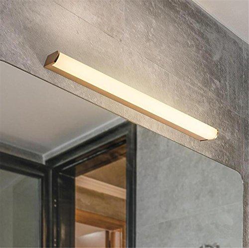 Atmko®Applique Murale LED Mur Lumière Miroir Lumières Intérieur Moderne Or Couleur Aluminium Chevet Applique Luminaire Décoratif Luminaire Pour Salon Chambre Lumière Couloir Lumière