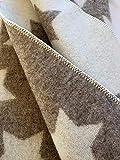 Alpenwolle Wollplaid, Tagesdecke Sternchen Wolldecke, Couchdecke, Sofadecke 135x180cm