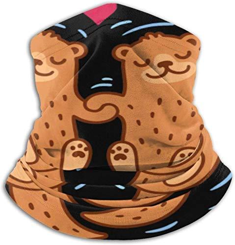 KINGAM Amante de la nutria pareja hombres y mujeres calentador de cuello de microfibra Polaina elástico cara media máscara tubo bufanda versatilidad bandana diadema diadema