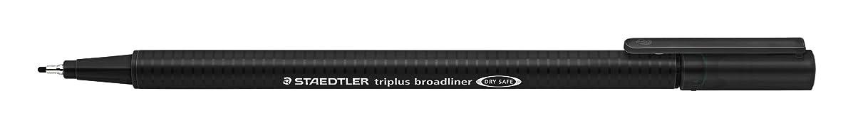 Staedtler 338-9 Triplus Broadliner Pen, Pack of 10