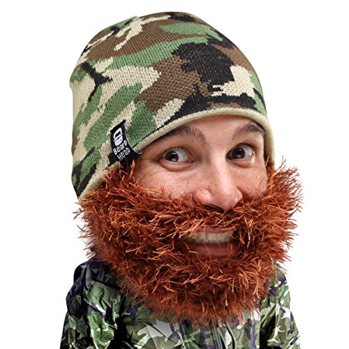 Beard Head Bushy Duke Beard Beanie - Camouflage Hat and Fake Beard Facemask - http://coolthings.us