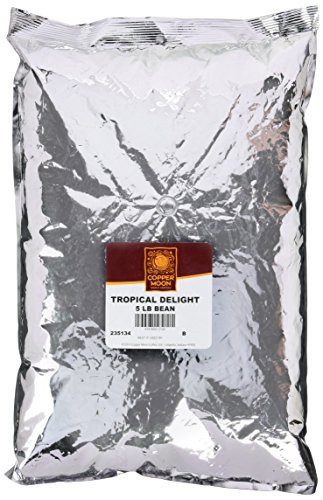 Copper Moon Whole Bean Coffee, Tropical Delight, 5 Pound