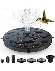 Fontein op zonne-energie, vijverpomp, waterpomp, drijvende fonteinpomp voor tuin, kleine vijver, vogelbad, visbak